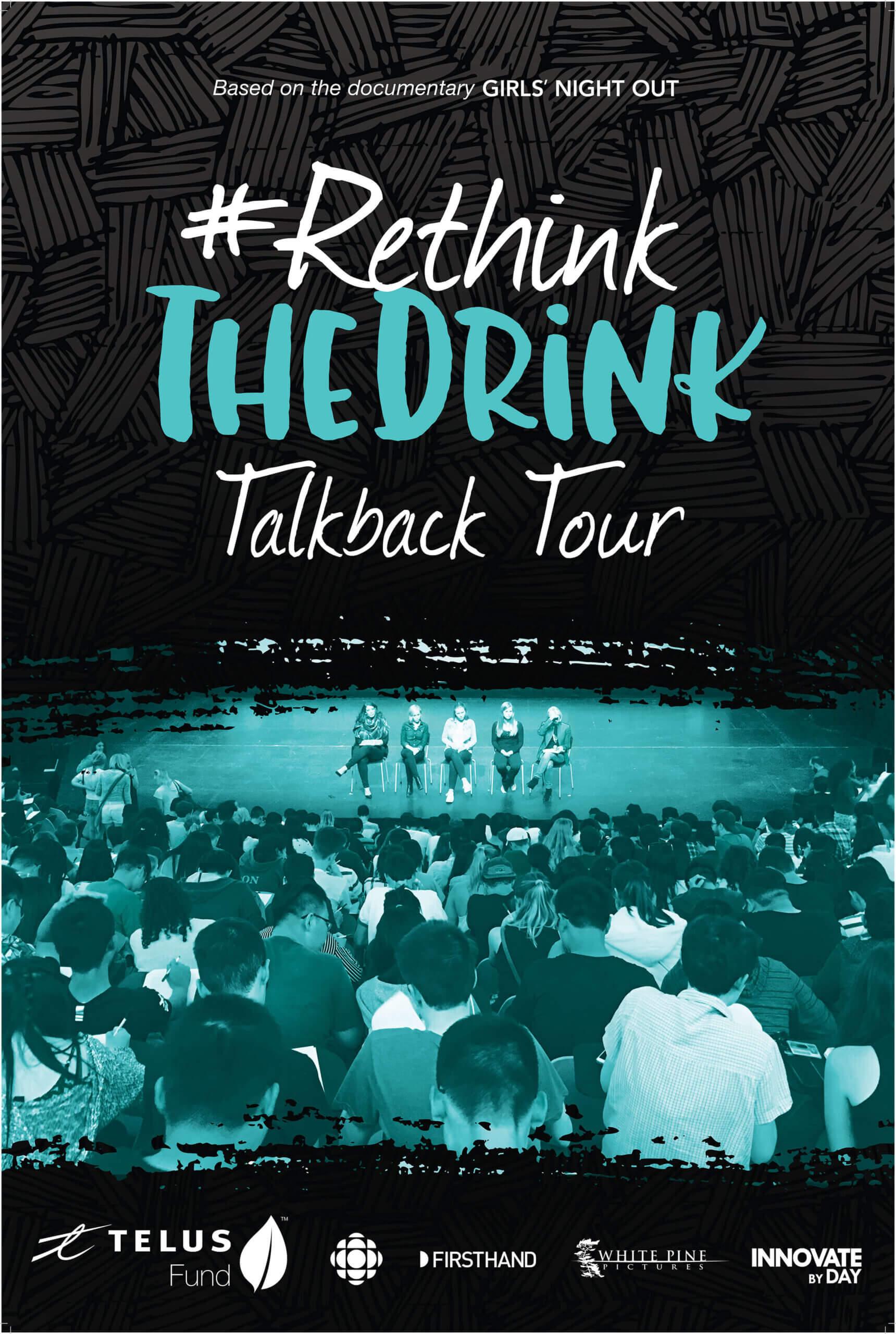 Poster for #RethinkTheDrink Talkback Tour